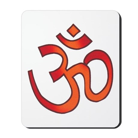 Hindu Om Aum Tattoo Mousepad