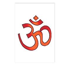 Hindu Om Aum Tattoo Postcards (Package of 8)