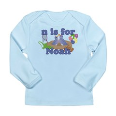 N is for Noah Long Sleeve Infant T-Shirt