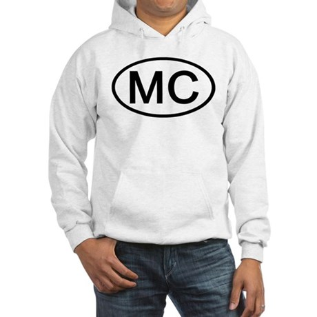 MC - Initial Oval Hooded Sweatshirt