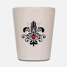 New Orleans Fleur Heart Shot Glass