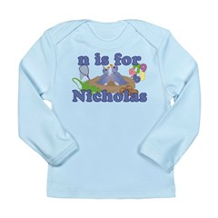 N is for Nicholas Long Sleeve Infant T-Shirt