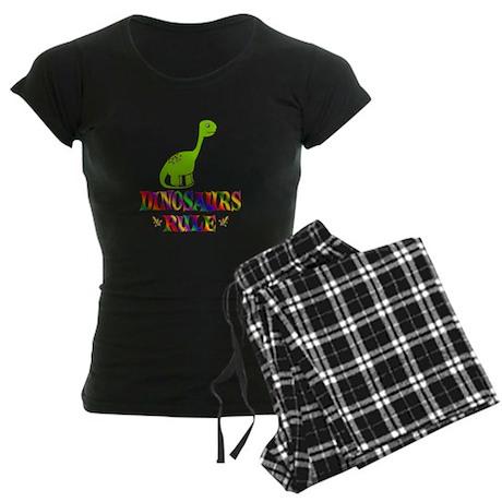 Fun Dinosaurs Rule Women's Dark Pajamas
