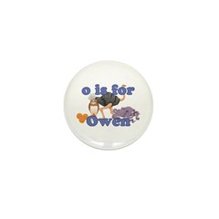 O is for Owen Mini Button (10 pack)