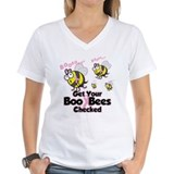 Boo bees Womens V-Neck T-shirts