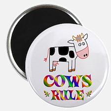 Fun Cows Rule Magnet