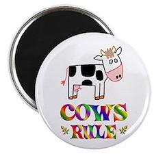 """Fun Cows Rule 2.25"""" Magnet (10 pack)"""