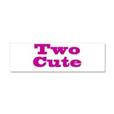Two Cute Twins Car Magnet 10 x 3