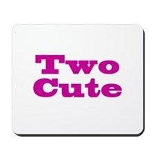 Two Cute Twins Mousepad