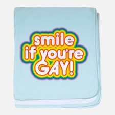 CRAZYFISH smile gay baby blanket