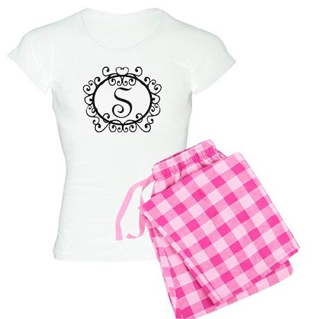 S Monogram Initial Letter Women's Light Pajamas