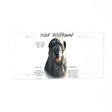 Grey Irish Wolfhound Aluminum License Plate
