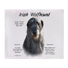Grey Irish Wolfhound Throw Blanket