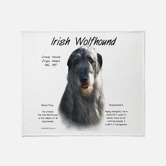 Irish Wolfhound (grey) Throw Blanket