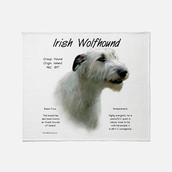 Irish Wolfhound (white) Throw Blanket