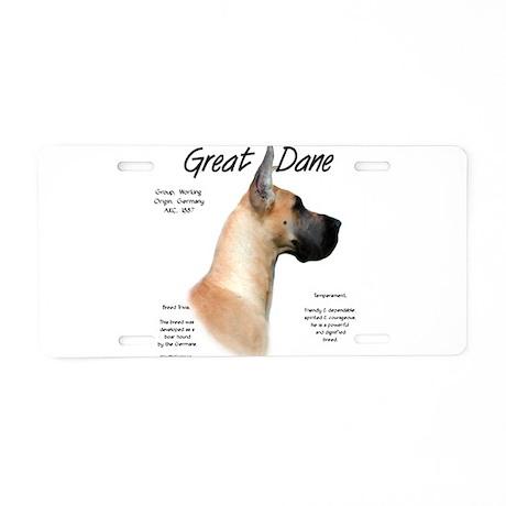 Fawn Great Dane Aluminum License Plate