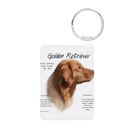 Golden Retriever Aluminum Photo Keychain