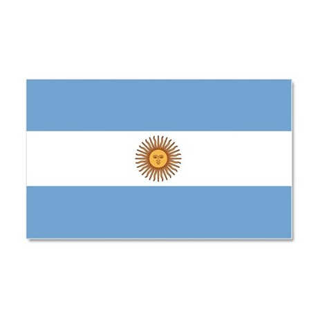 Flag of Argentina Car Magnet 20 x 12