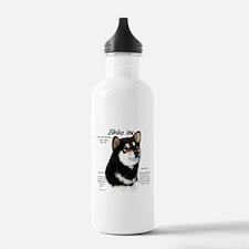 Shiba Inu (blk/tan) Water Bottle