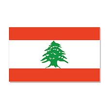 Flag of Lebanon Car Magnet 20 x 12