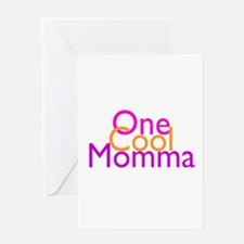 One Cool Momma Greeting Card