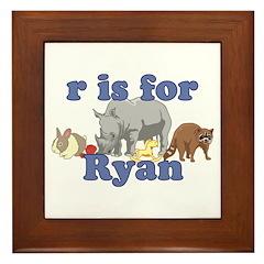 R is for Ryan Framed Tile