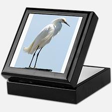 Great White Egret Keepsake Box