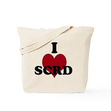 I heart SCRD Tote Bag