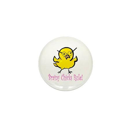Brainy Chicks Mini Button (10 pack)