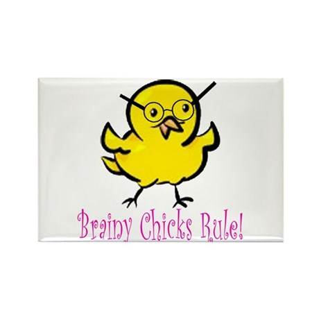 Brainy Chicks Rectangle Magnet (100 pack)
