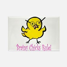 Brainy Chicks Rectangle Magnet