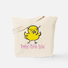 Brainy Chicks Tote Bag