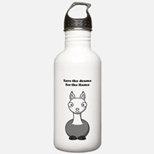 save the drama for the llama Sports Water Bottle