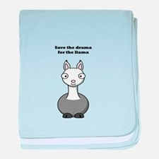 save the drama for the llama baby blanket