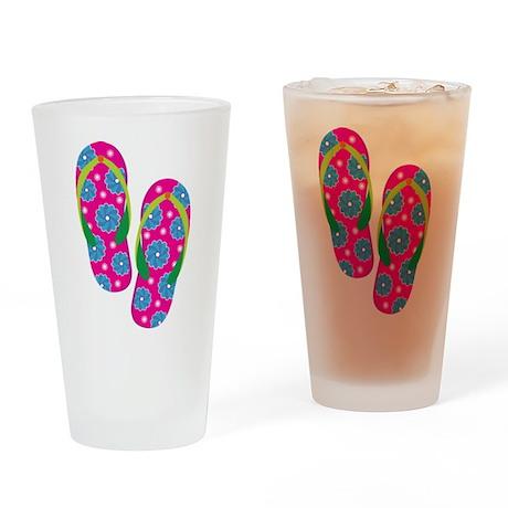 flipflops Drinking Glass