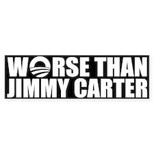 Worse Than Jimmy Carter Bumper Car Sticker