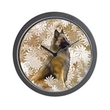 Belgian Terv In The Garden Wall Clock
