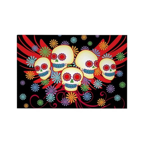 Day of the Dead Rectangle Magnet