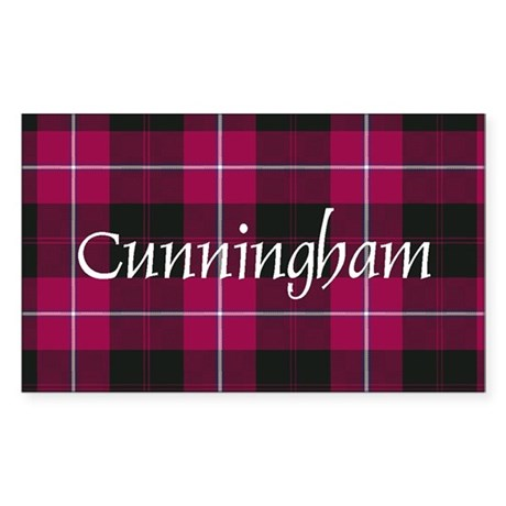 Tartan - Cunningham Sticker (Rectangle)
