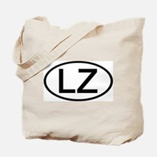 LZ - Initial Oval Tote Bag