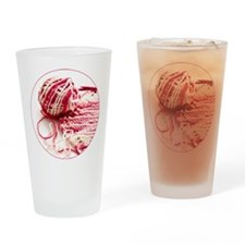 Hand Knit Pink Variegated Drinking Glass