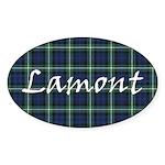 Tartan - Lamont Sticker (Oval 50 pk)