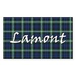 Tartan - Lamont Sticker (Rectangle 50 pk)