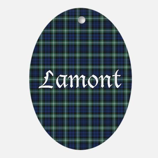 Tartan - Lamont Ornament (Oval)