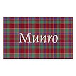Tartan - Munro Sticker (Rectangle 10 pk)