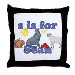 S is for Sean Throw Pillow