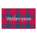 Tartan - Wotherspoon Sticker (Rectangle)