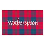Tartan - Wotherspoon Sticker (Rectangle 10 pk)