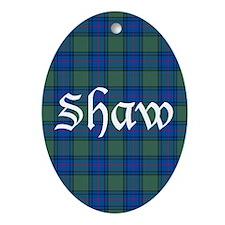 Tartan - Shaw Ornament (Oval)