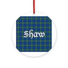 Tartan - Shaw Ornament (Round)